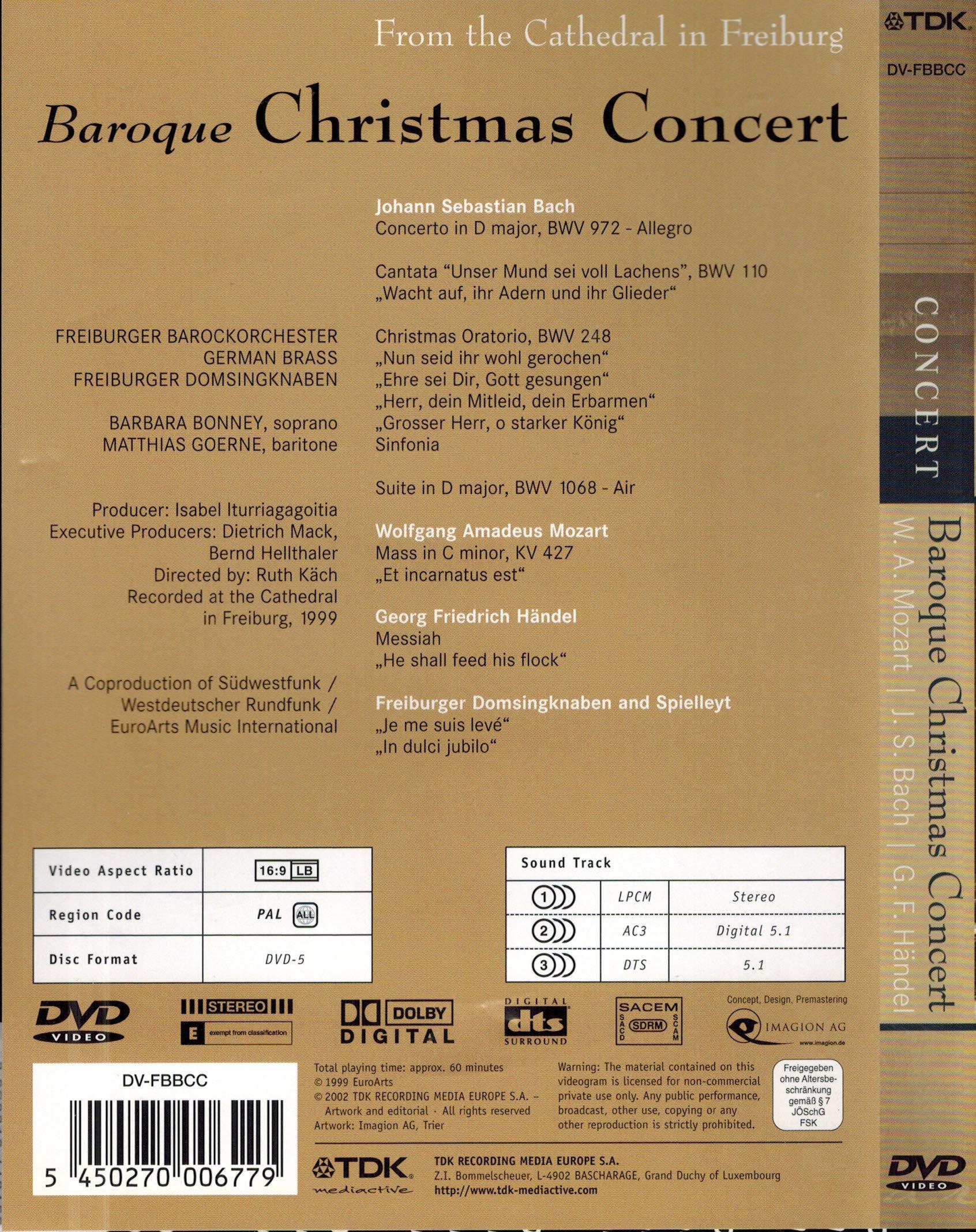 Gottfried von der Goltz & Freiburger Barockorchester   Bach ...